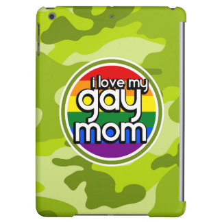 Gay Mom; bright green camo, camouflage Case For iPad Air