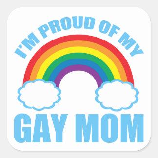 Gay Mom Square Sticker