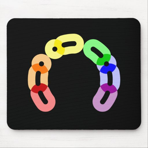 Gay Morse Code Arc Mousepad