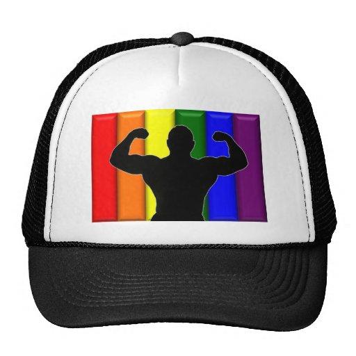 Gay Muscle Pride Mesh Hat