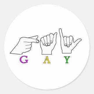 GAY NAME ASL FINGER SPELLED FEMALE STICKERS