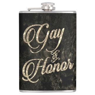 Gay of Honor Bar   Bridal Party Keepsake Gold Hip Flask
