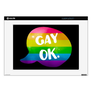 "Gay Ok LGBT Pride 15"" Laptop Skins"