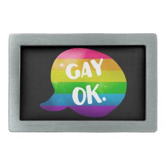 Gay Ok LGBT Pride Belt Buckle