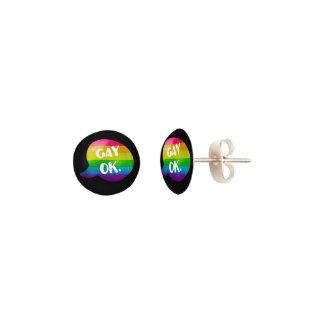 Gay OK LGBT Pride Earrings