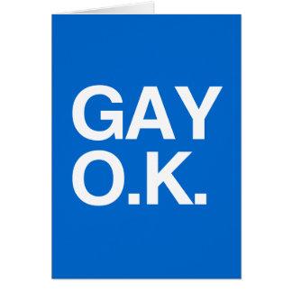 GAY OK -.png Greeting Card