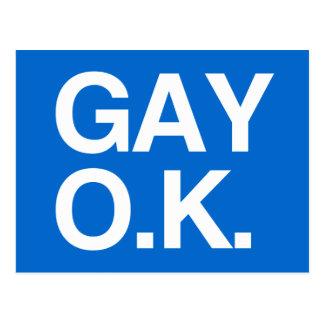GAY OK -.png Postcard