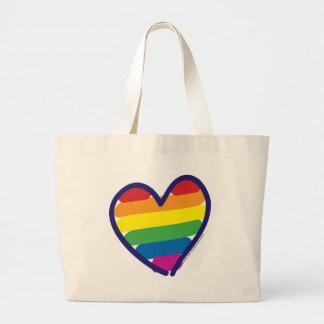 Gay-ORGULLO-CORAZÓn-En-catneato Bolsa Tela Grande