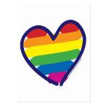 Gay-ORGULLO-CORAZÓn-En-catneato Postal