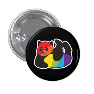 Gay Panda LGBT Pride Button