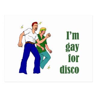 Gay para el disco tarjeta postal