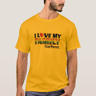 Gay Parent magazine I Love My Family T-shirt