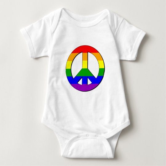 Gay Peace Sign Baby Bodysuit