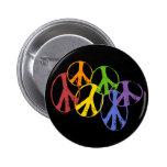 Gay Peace Symbols Button