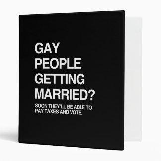 GAY PEOPLE GETTING MARRIED VINYL BINDERS