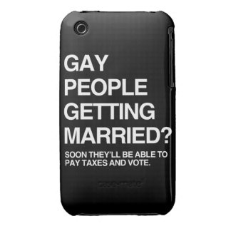 GAY PEOPLE GETTING MARRIED iPhone 3 CASES