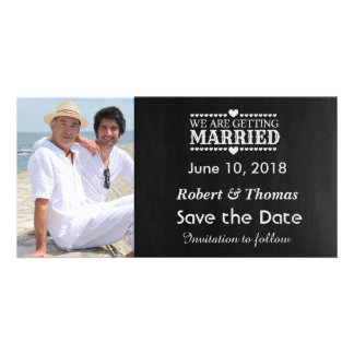 Gay Photo Save the Date Photo Card