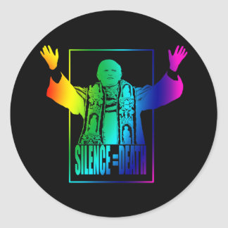 Gay Pope Classic Round Sticker