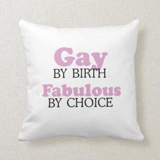 Gay por el nacimiento fabuloso por la opción .png cojín