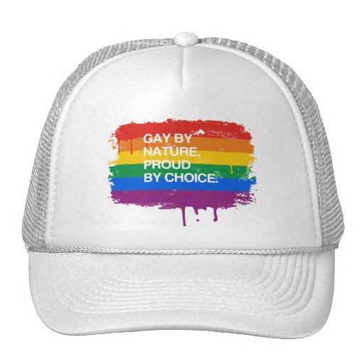 GAY POR LA NATURALEZA. ORGULLOSO POR LA OPCIÓN GORROS BORDADOS
