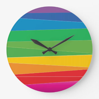 Gay Pride Abstract Rainbow Large Clock