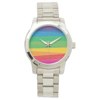 Gay Pride Abstract Rainbow Wrist Watch