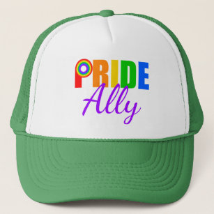 fa9edac7352 Gay Pride Ally Rainbow Trucker Hat