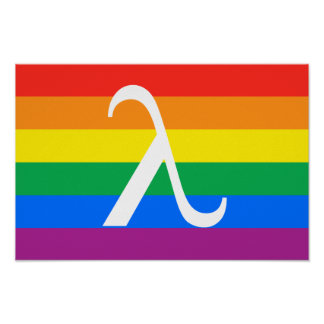 Gay Pride and Activism Flag Poster