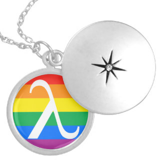 Gay Pride and Activism Flag Silver Plated Necklace