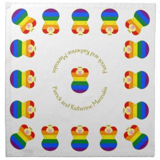 Gay Pride Angel Rainbow Flag Blonde Hair Cloth Napkin