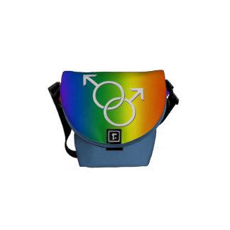 Gay Pride Bag Rainbow Love Messenger Bag