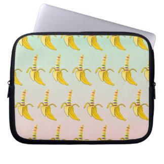 Gay Pride Banana Pattern Computer Sleeve