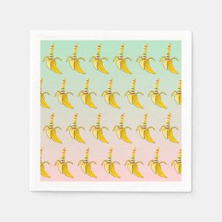 Gay Pride Banana Pattern Napkin
