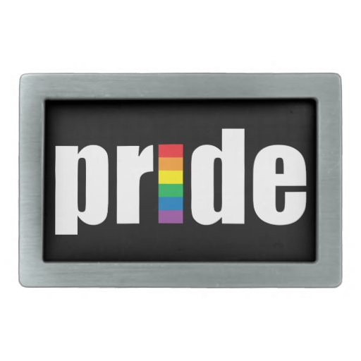 Gay Pride Belt Buckle