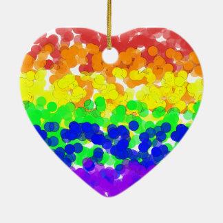 Gay Pride Bokeh Flag ornament
