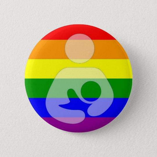 Gay Pride Breastfeeding / Nursing Button