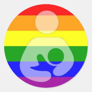 Gay Pride Breastfeeding / Nursing Classic Round Sticker