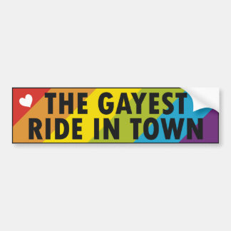 Gay Pride Car Bumper Sticker