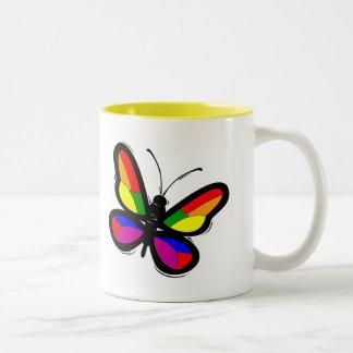 Gay Pride Butterfly Coffee Mug