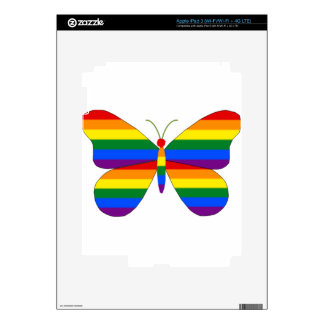 Gay Pride Butterfly Decal For iPad 3