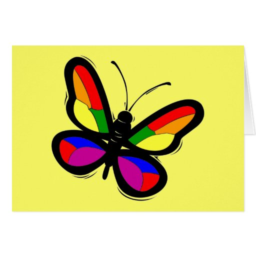 Gay Pride Butterfly Greeting Card