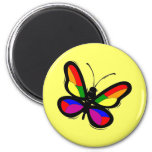 Gay Pride Butterfly Magnet