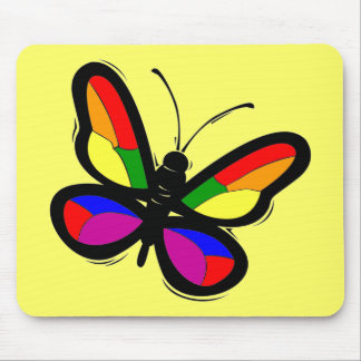 Gay Pride Butterfly Mousepad