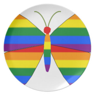 Gay Pride Butterfly Plates