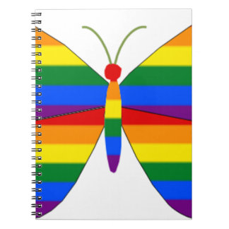 Gay Pride Butterfly Spiral Notebook