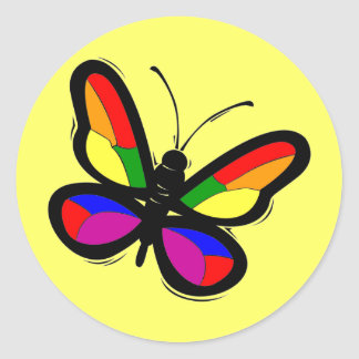 Gay Pride Butterfly Stickers