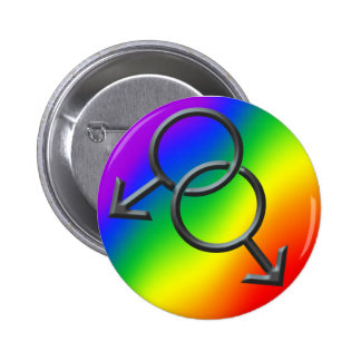 Gay Pride Buttons Rainbow Man Love Buttons Gifts Pinback Buttons