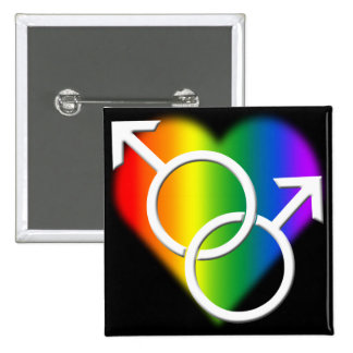 Gay Pride Buttons Same-Sex Rainbow Love Buttons