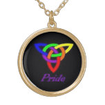 Gay Pride Celtic Knot Necklace