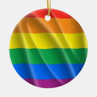 GAY PRIDE CERAMIC ORNAMENT